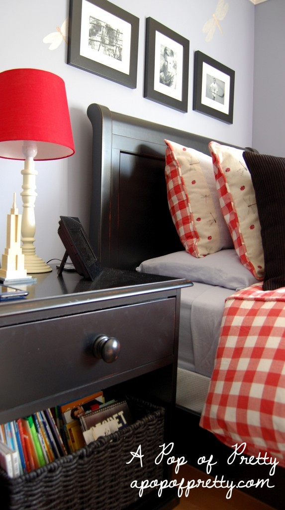 little boy room - red, blue and black