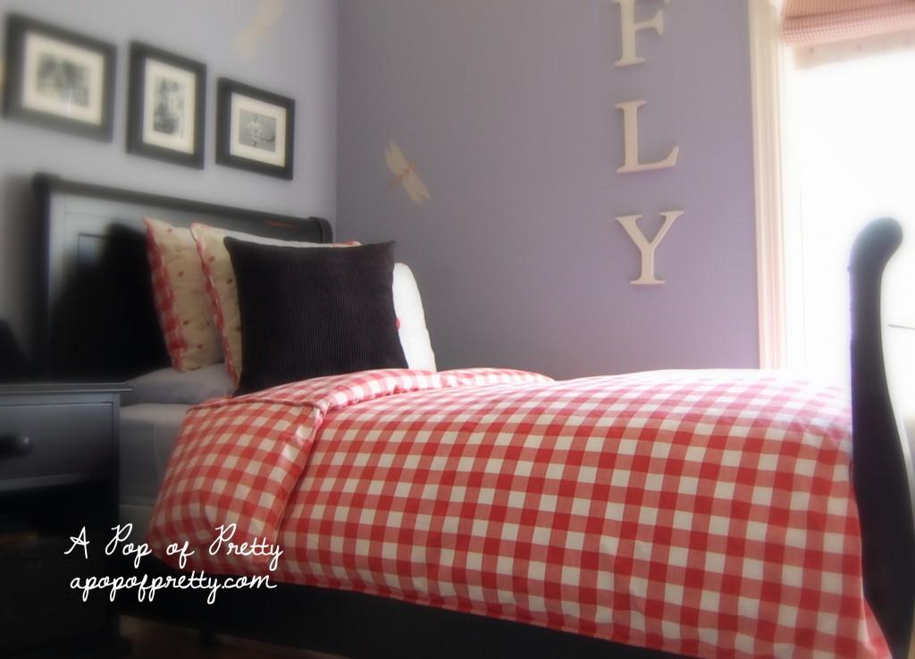 little boy room - red gingham