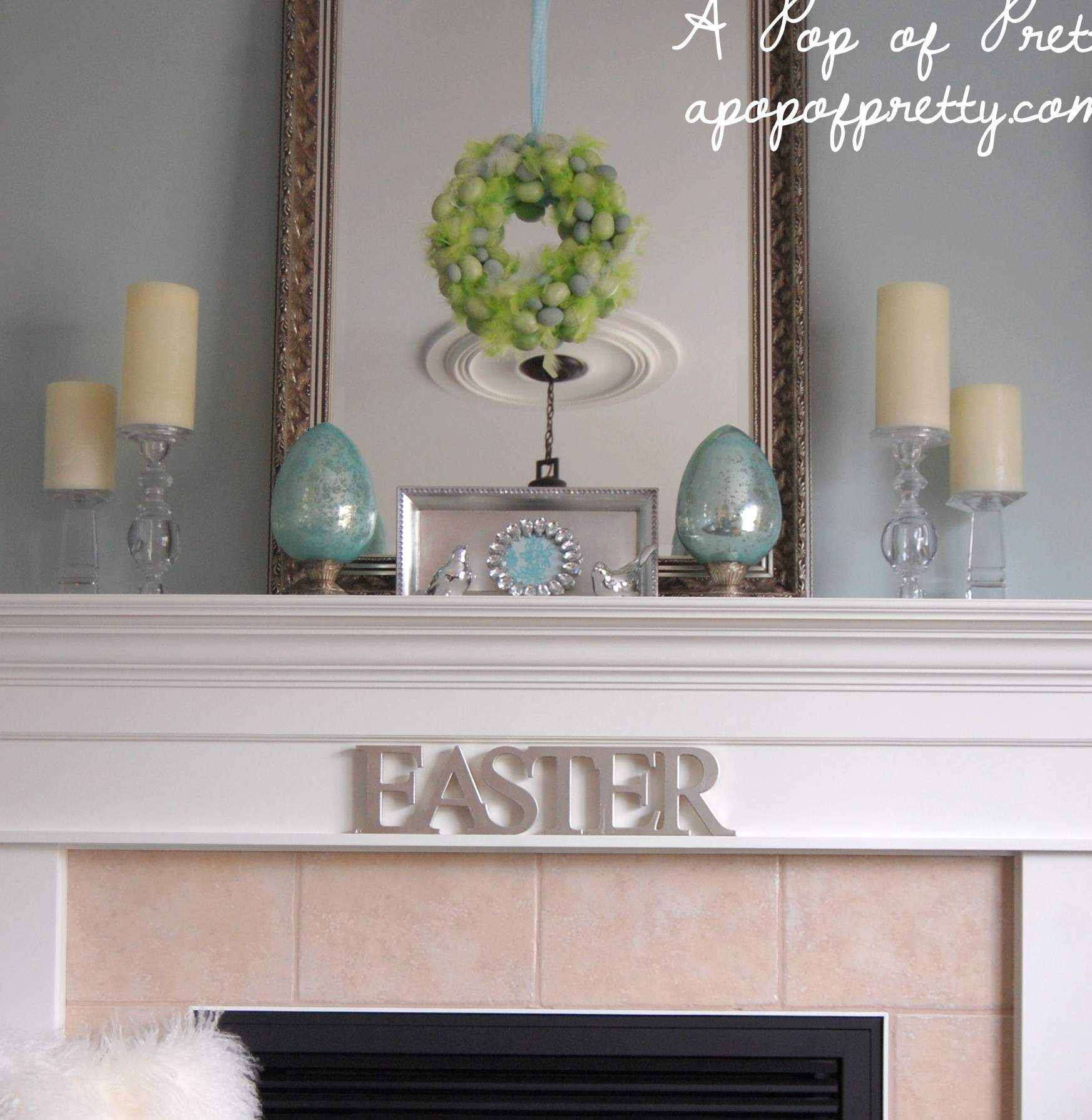 Easter decorating ideas decorate a simple easter mantel for Home decor canada
