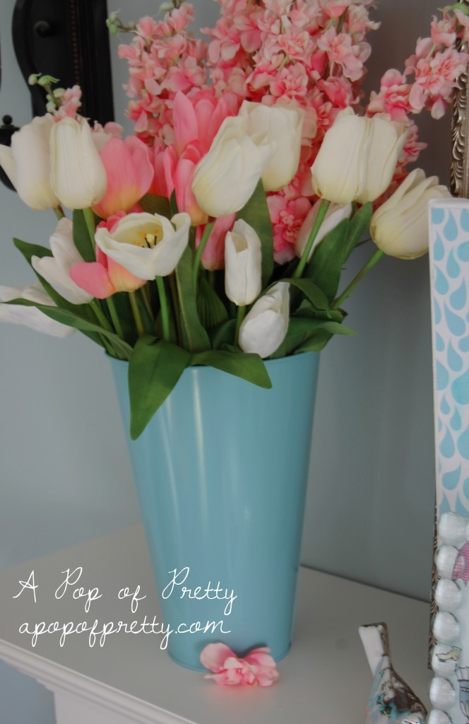Spring Easter Decorating Ideas Tulips A Pop Of Pretty