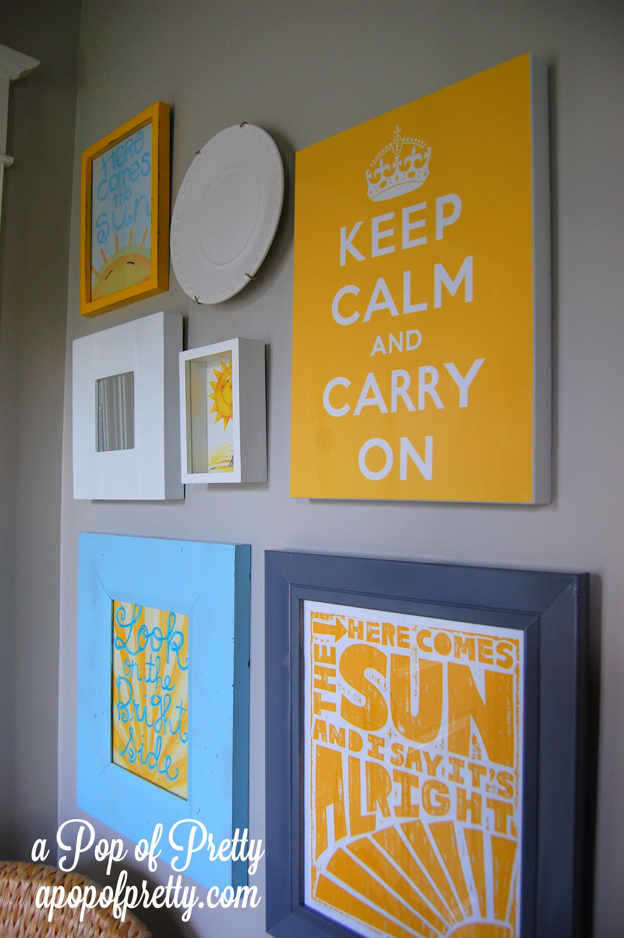 Here comes the sun: Our Sunshine-Inspired, Front Entrance Gallery Wall!