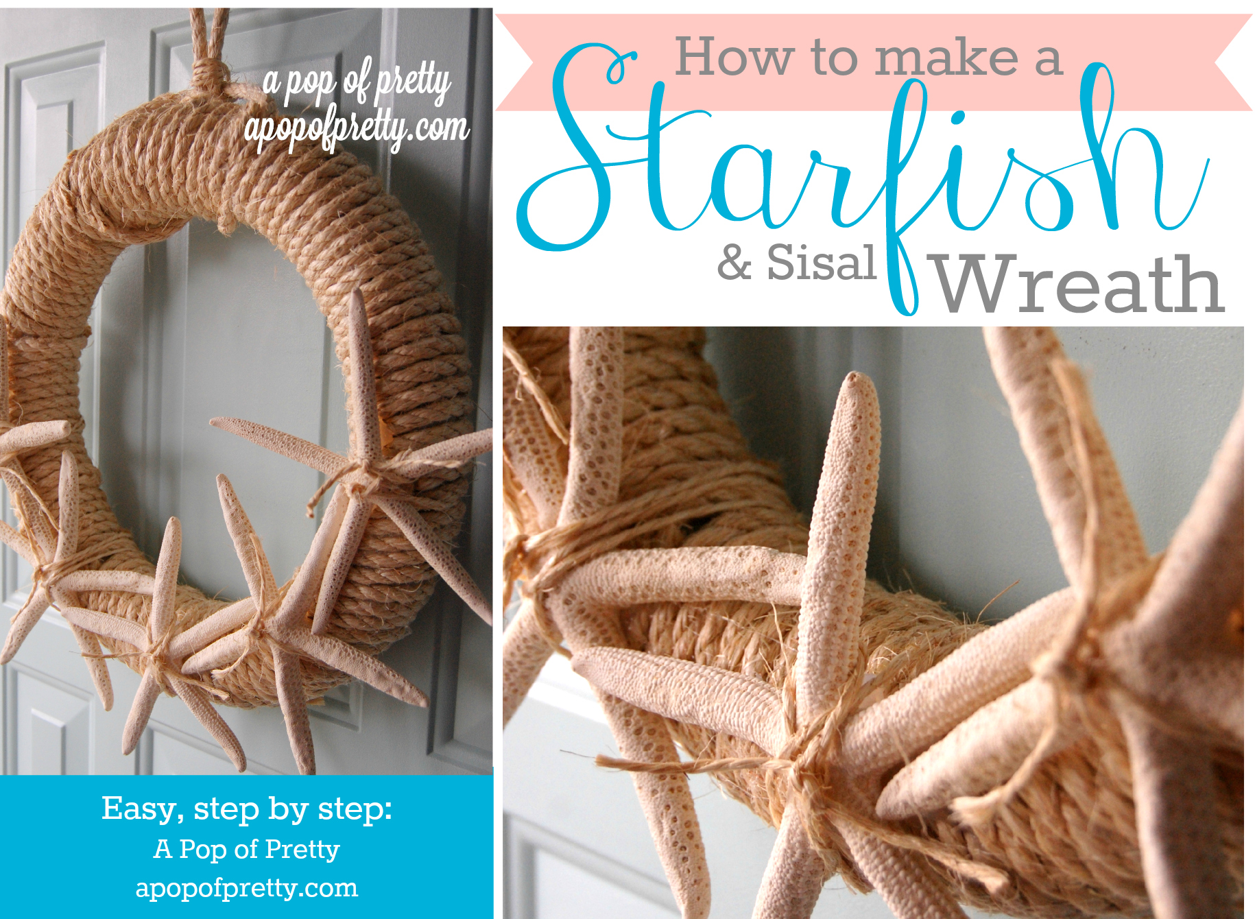 DIY Starfish Summer Wreath – A Tutorial (Summer Decorating Ideas)