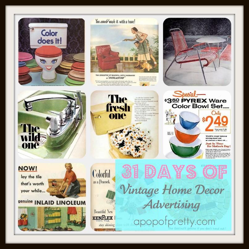 Vintage Home Decor Ads A Pop Of Pretty Blog Canadian
