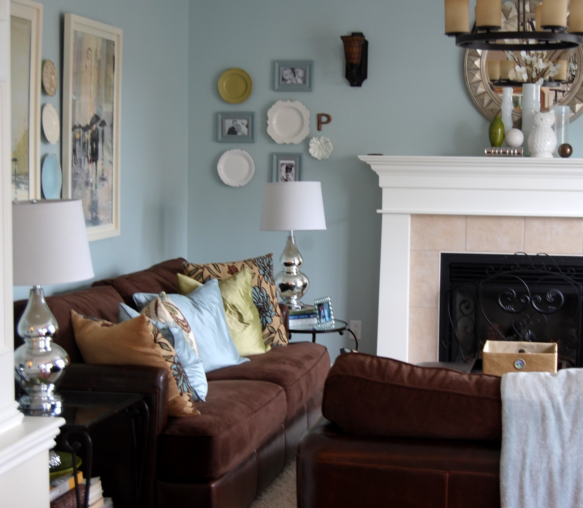 Our Living Room Over The Years: Benjamin Moore Woodlawn Blue & The Evolution Of Our Living