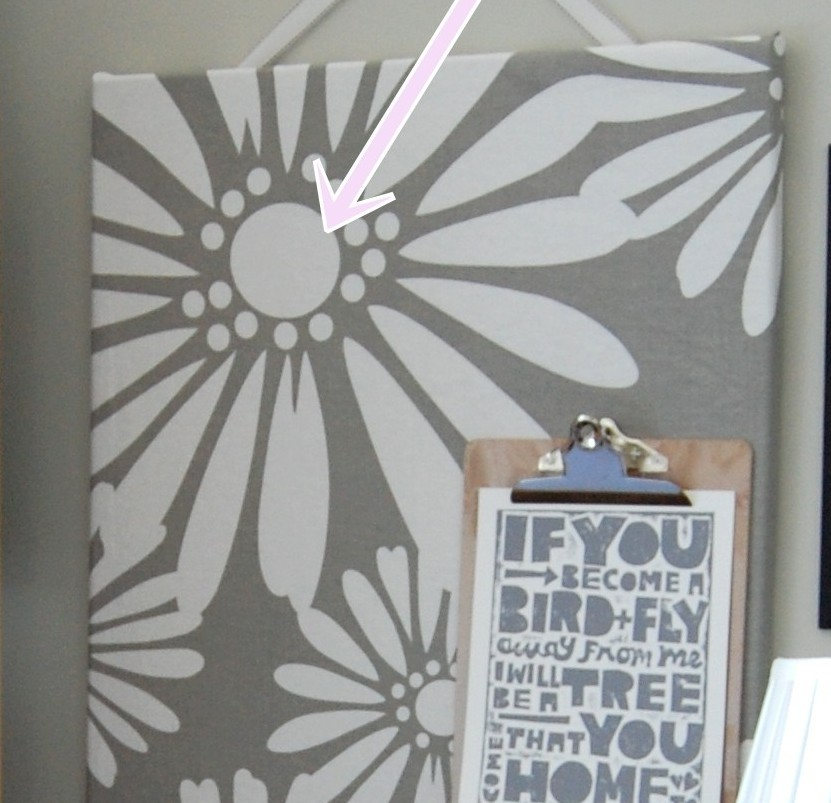Trick for a Pretty, DIY Fabric-Covered Bulletin Board (Cork Board)