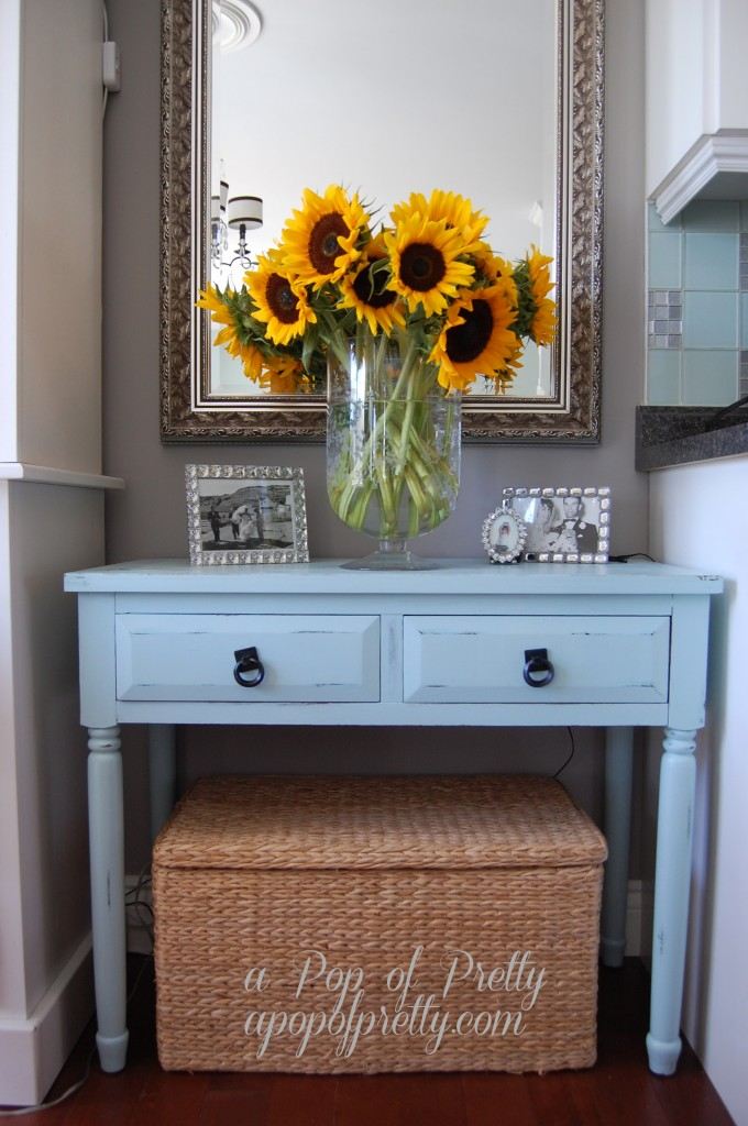 Decorating with sunflowers