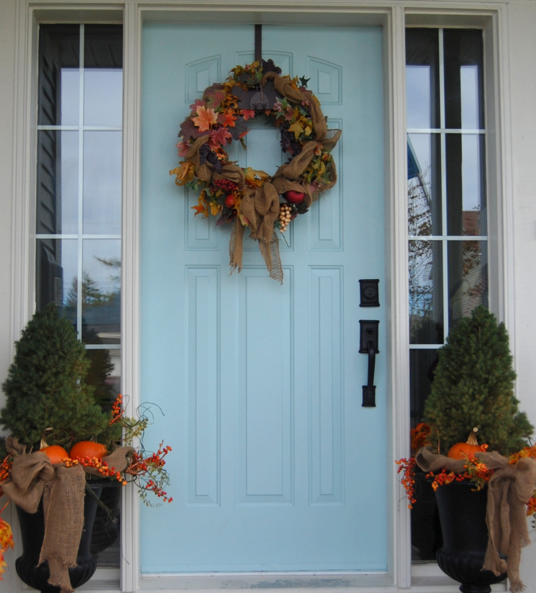 My Two Tries at Fall Door Decor (Fall Wreaths) - A Pop of Pretty Blog  (Canadian Home Decorating Blog - St. John's, Canada)