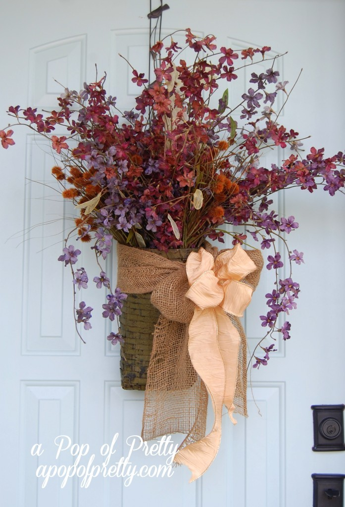 Fall decorating ideas - door decor