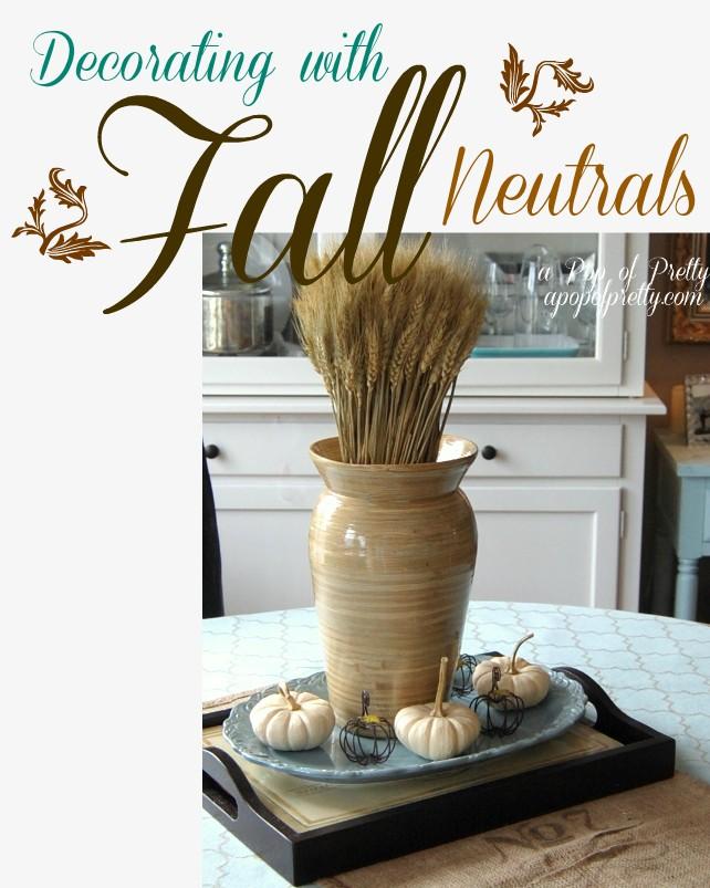 Fall Decorating Ideas - Fall Neutrals