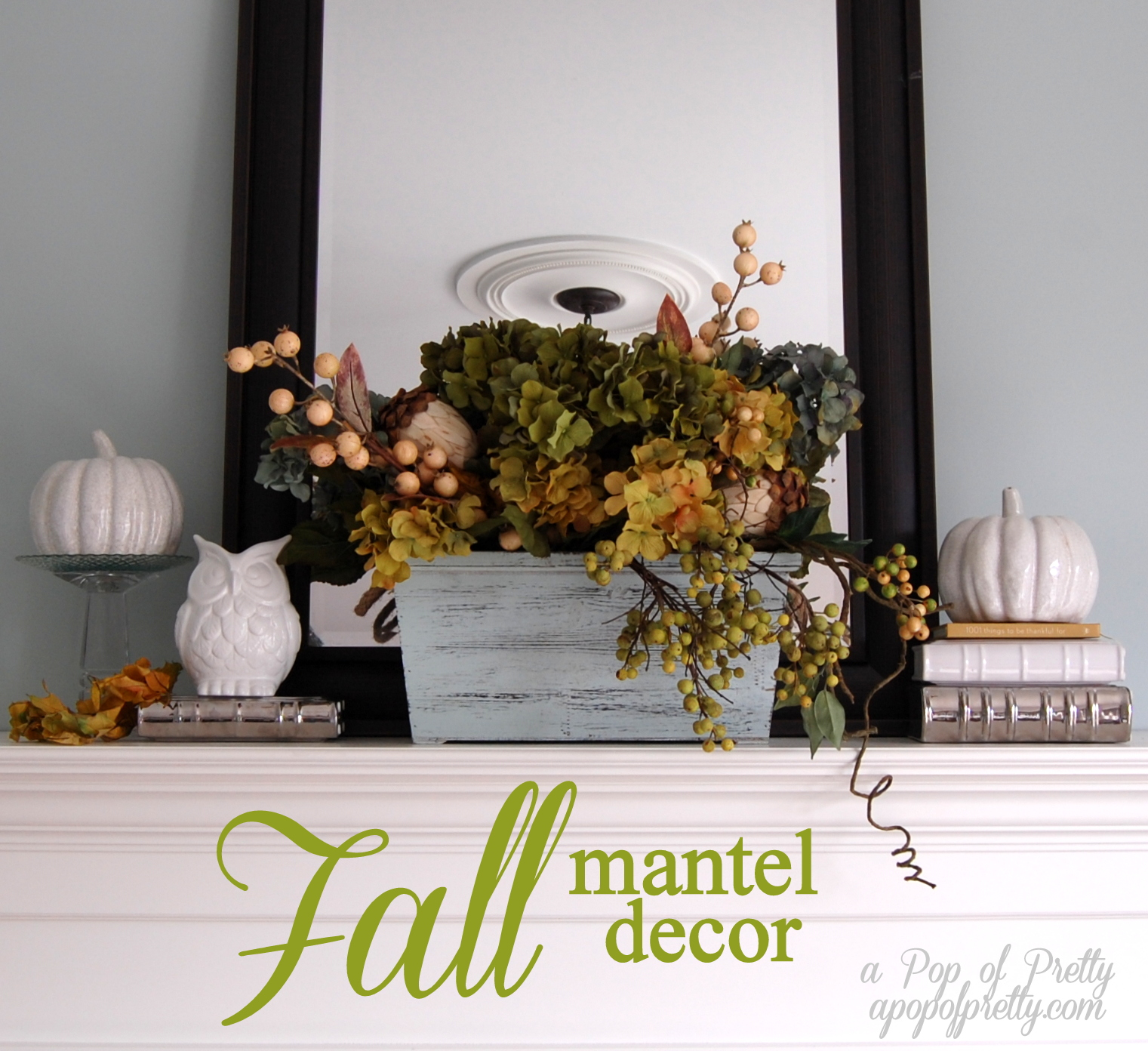 My 'Un-Fall' Fall Mantel (Cool-toned Fall Decor)