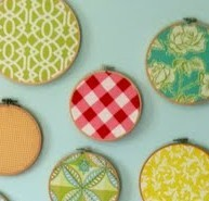 (W)hoop (W)hoop! Embroidery Hoops as Wall Art (Idea #7)