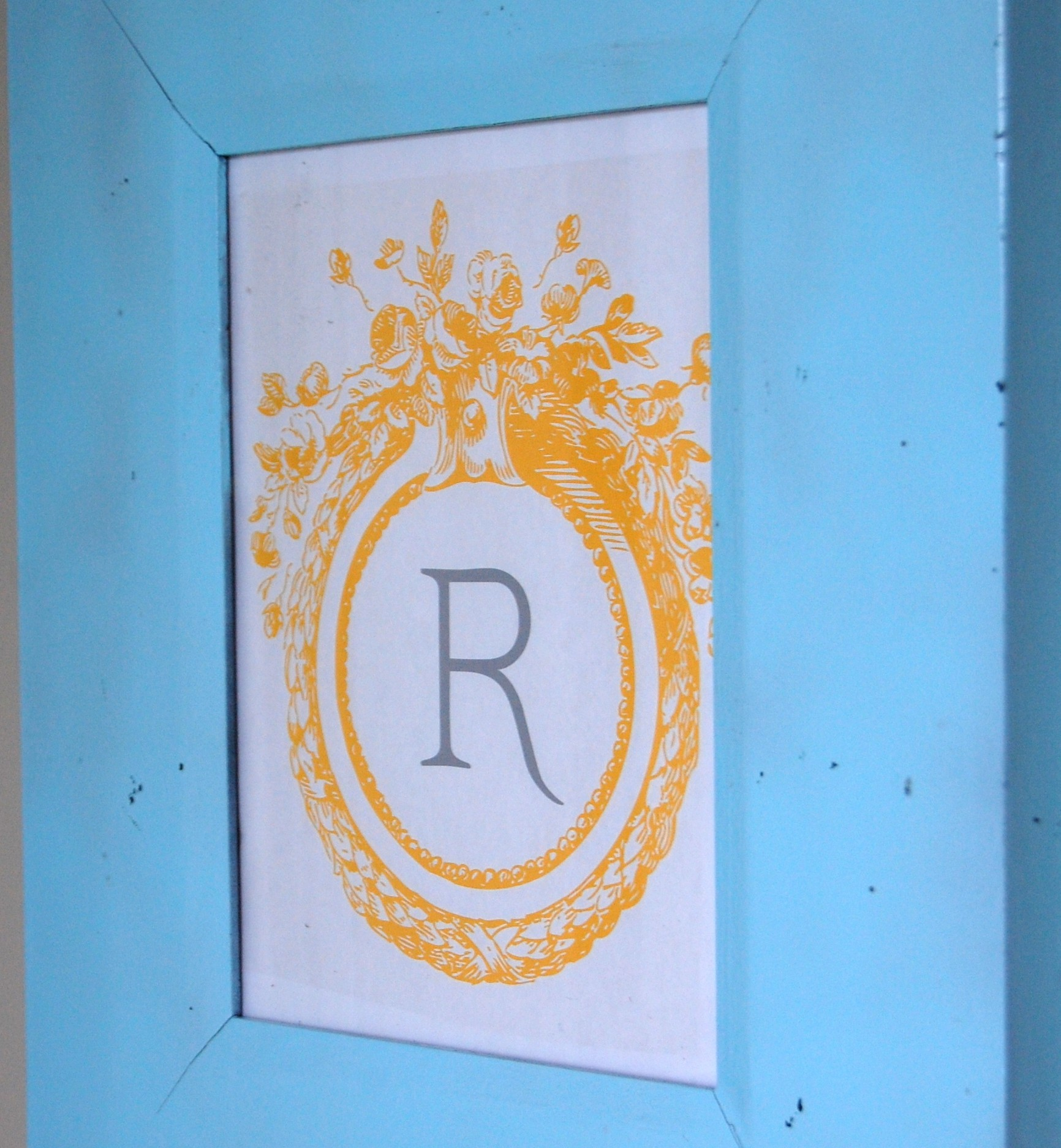 DIY Wall Art Idea #1: Free, Frameable Monogram!