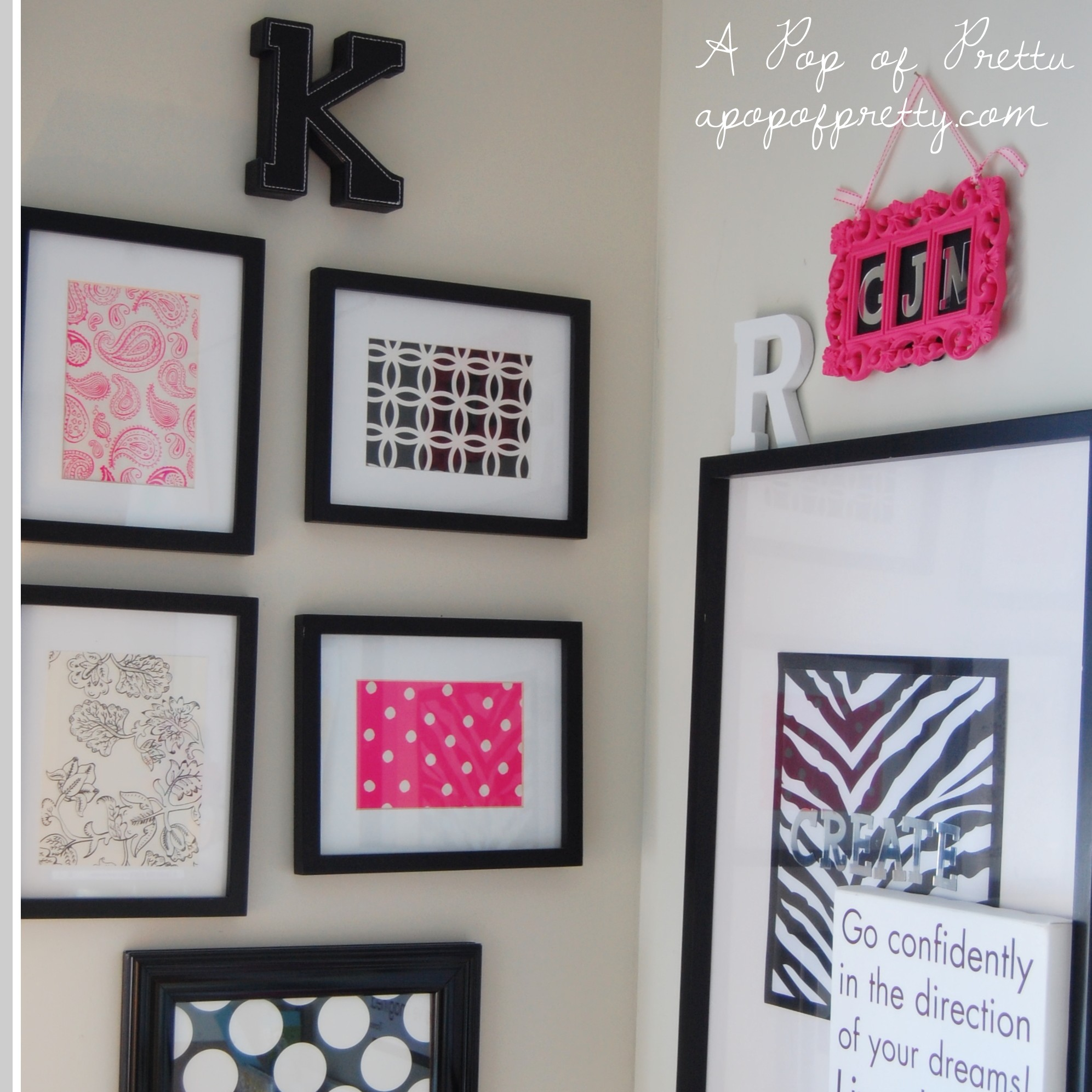 Wall Art from Scrapbook Paper / Stationary: Idea #5 (of 31)!