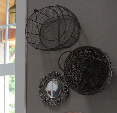 A tisket, a tasket, it's time to hang a basket! (DIY Wall Art Idea #17)