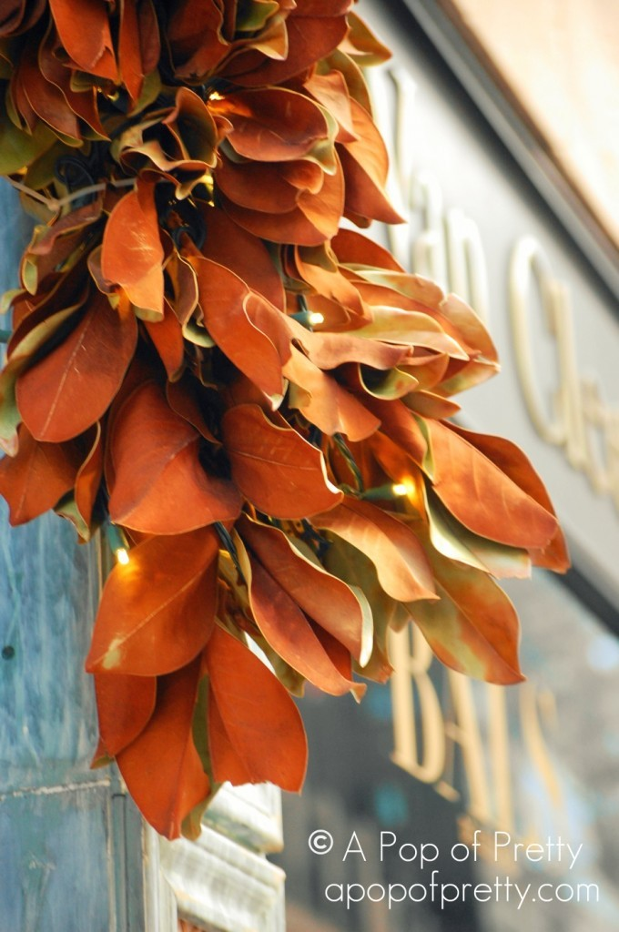 Christmas Magnolia Leaves NYC
