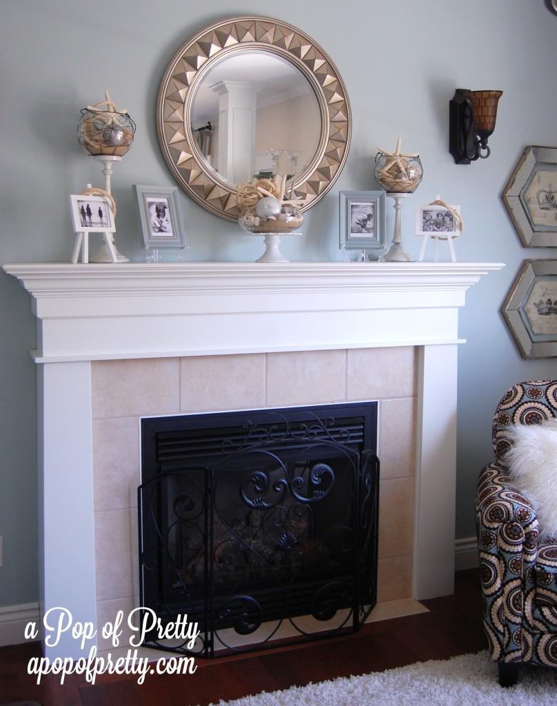 Summer Fireplace Mantel Decorating Ideas