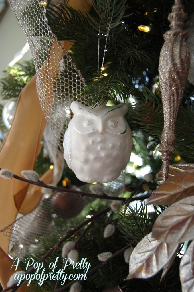 Owl Christmas tree decor