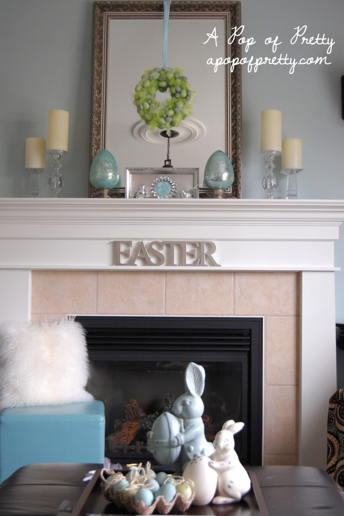 Easter Mantel Ideas A Pop Of Pretty Blog Canadian Home