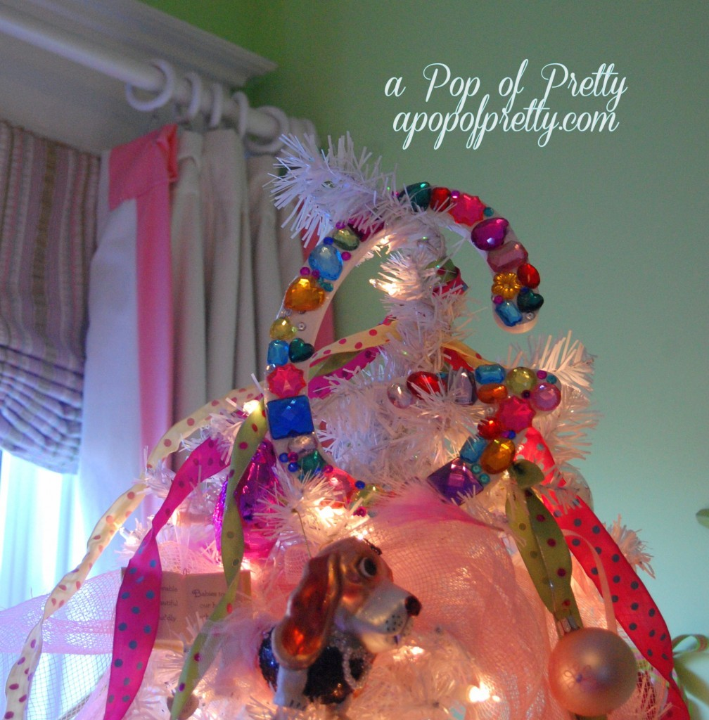 DIY Monogram tree topper