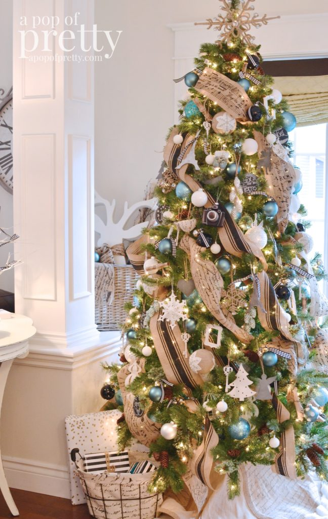 French inspired holiday decor