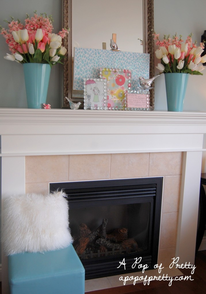 Spring mantel ideas a pop of pretty blog canadian home for Decorating blogs canada