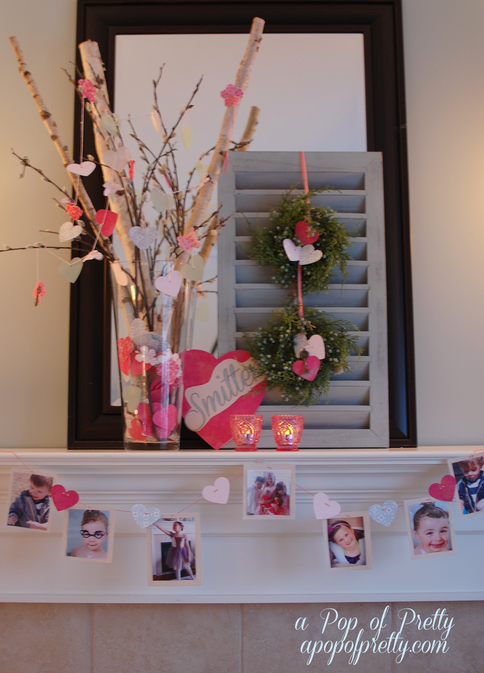 paper hearts Valentines Day decor