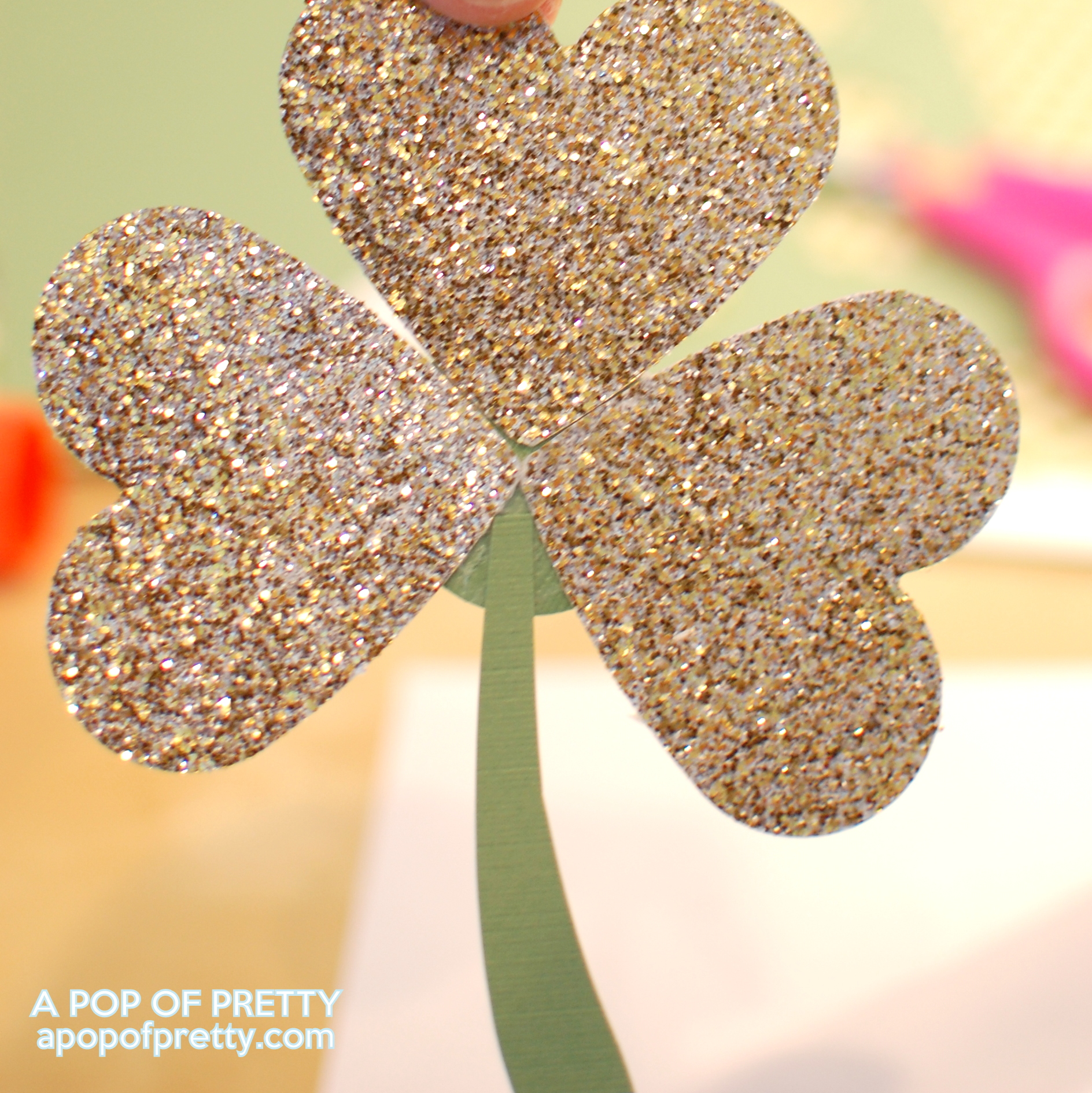 How to Make a Shamrock: Easy St Patricks Day Decor with a Heart Punch!