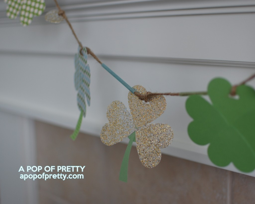 St Patricks Day decor - shamrock