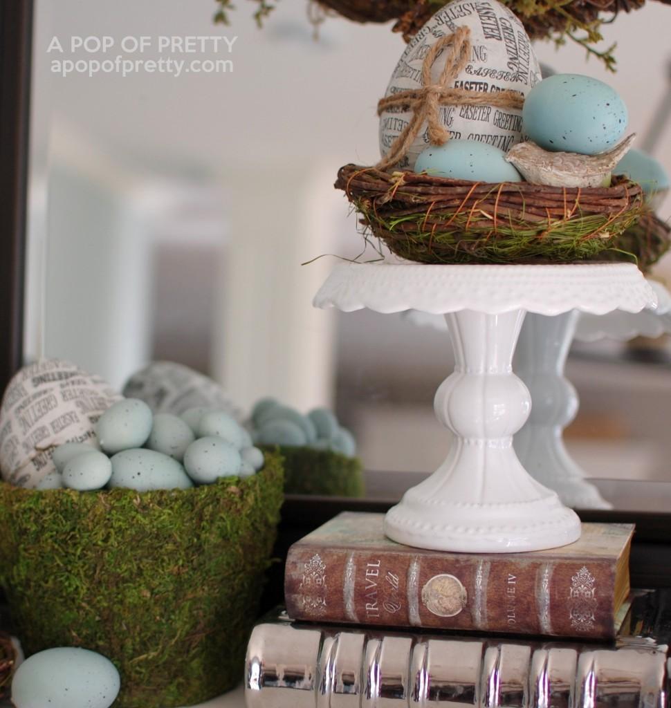 Easter egg decorating ideas - newspaper eggs