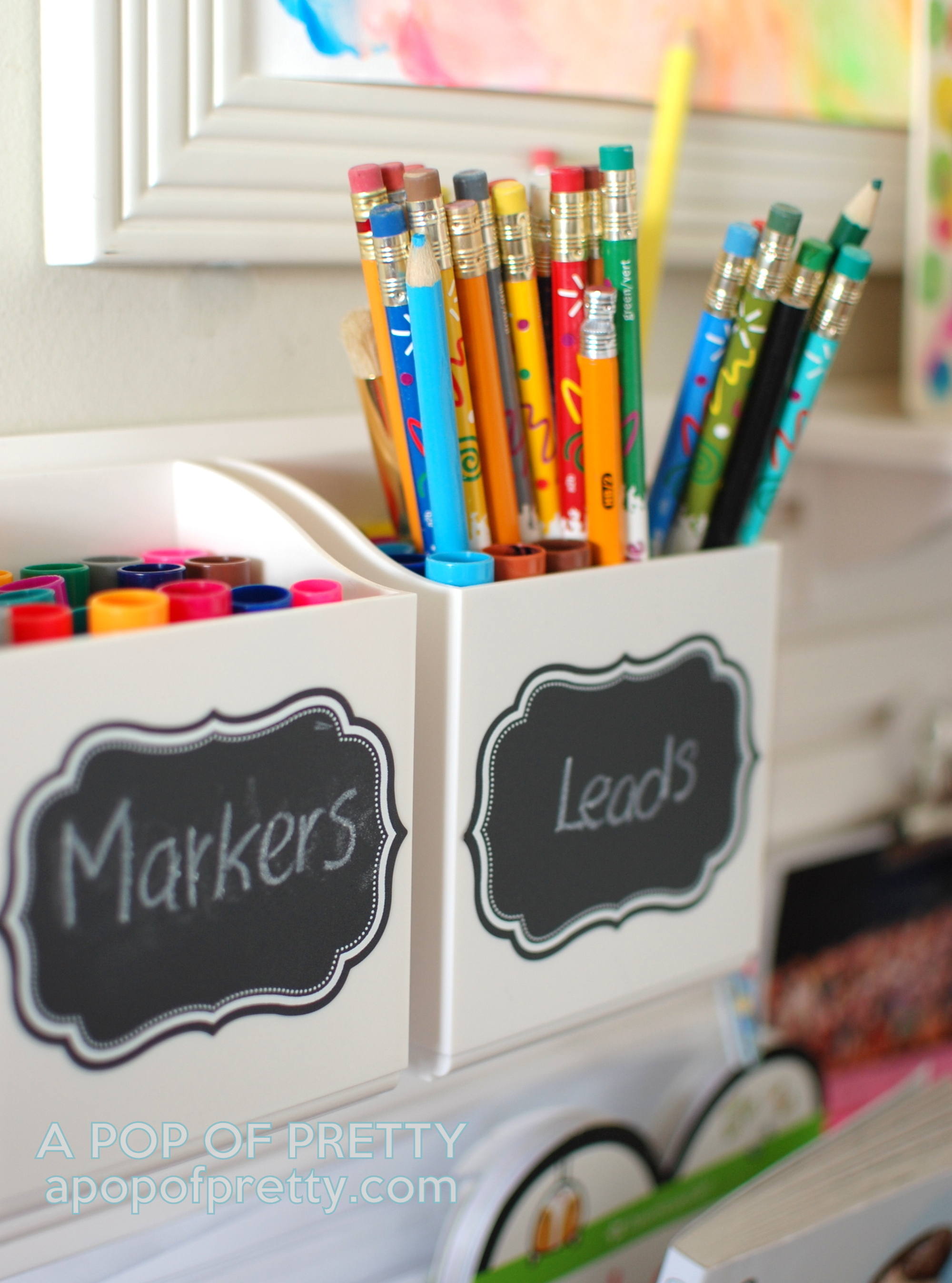 How to Organize a Small Art Station for Kids (Martha Stewart Wall Manager)