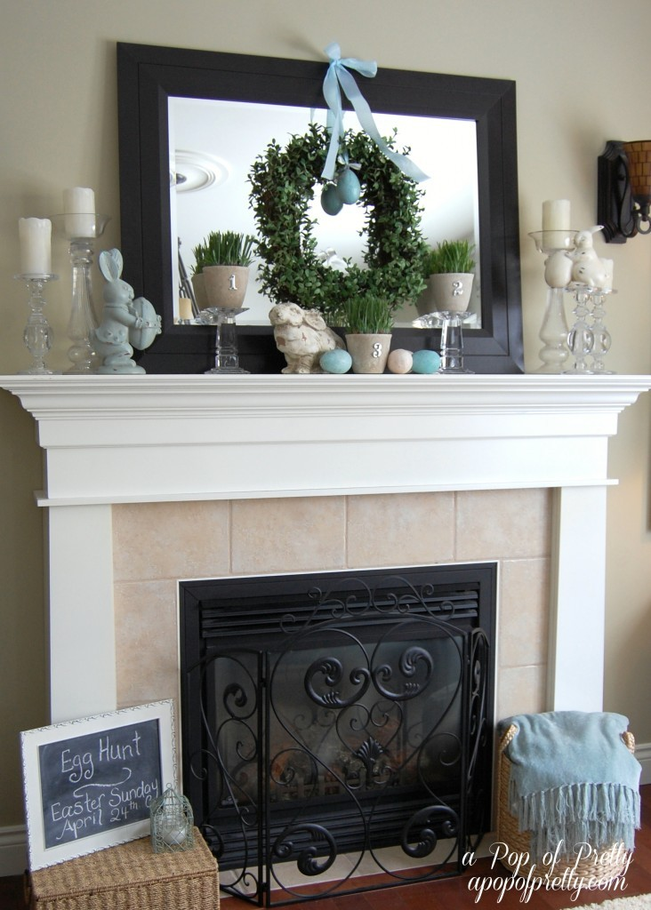 Easter Decorating Ideas - Mantel 2011