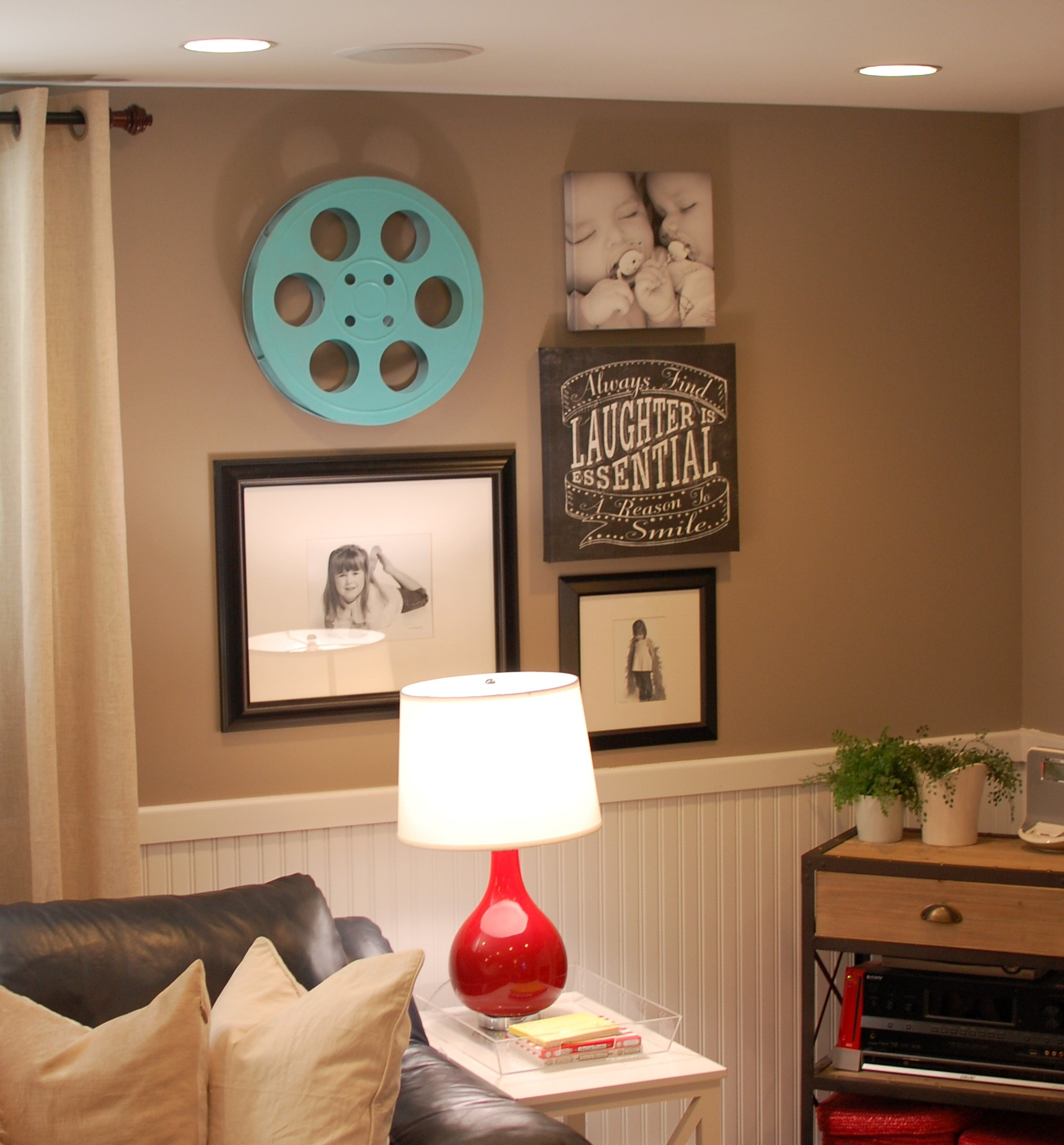 Basement decorating ideas a pop of pretty blog canadian Basement room decorating ideas