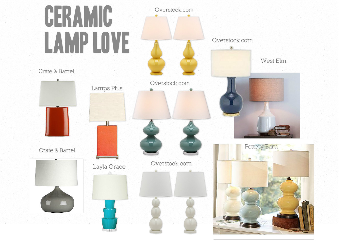 Ceramic Table Lamps: My Decor Crush de Jour