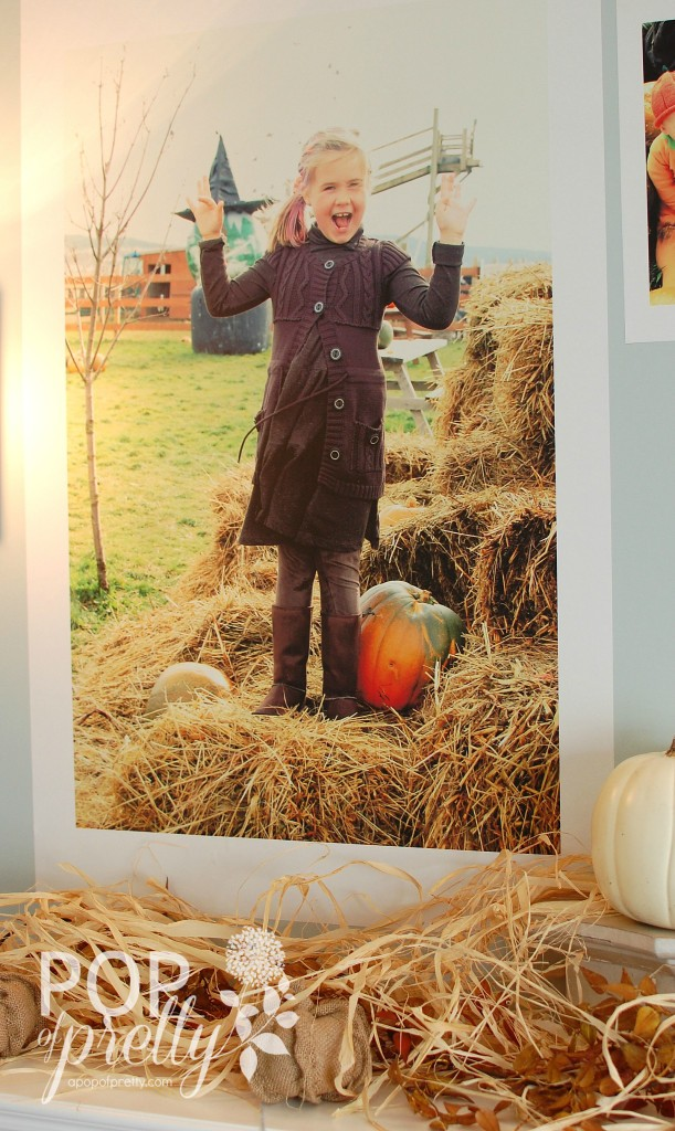 Fall decorating ideas - Fall mantel