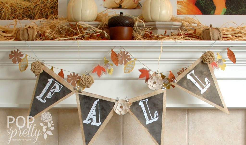 Fall decor - chalkboard banner