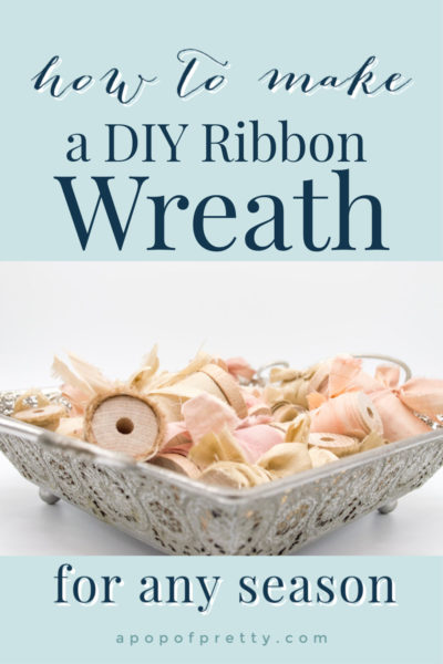 how to make a tied ribbon wreath