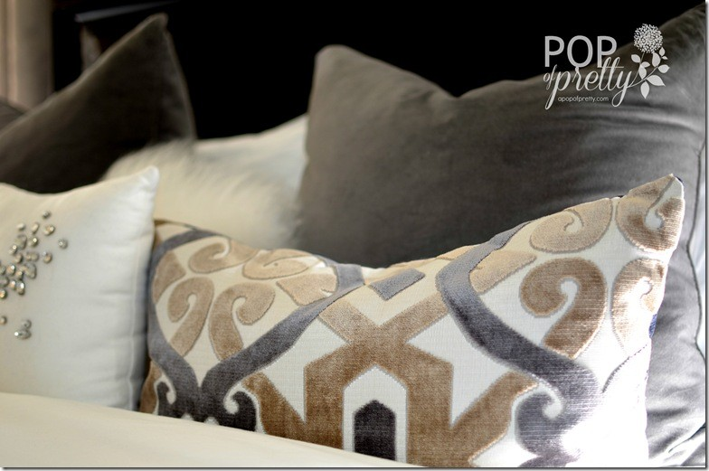 velvet geometric toss pillow