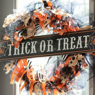 DIY Ribbon Wreath (Halloween or any Season)