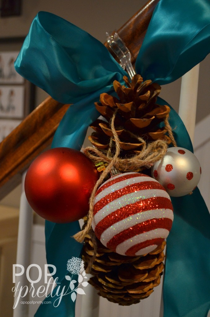 Dr. Seuss Inspired Christmas - stair railing idea