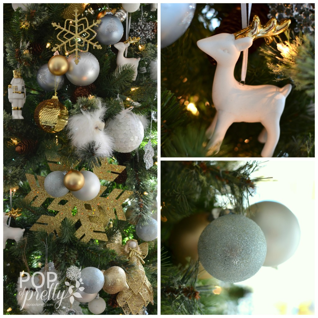 gold and white Christmas collage 2