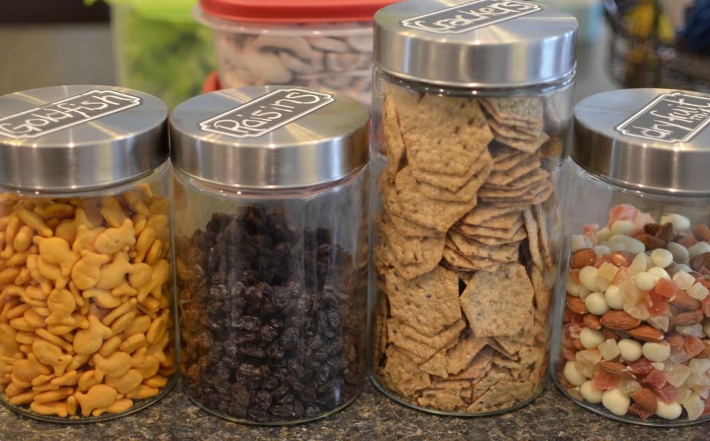more kitchen storage - glass jars