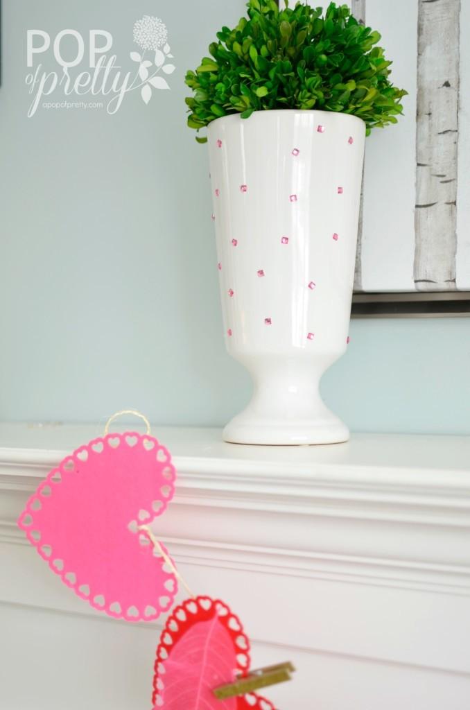 Valentines Decorating Idea - Vase