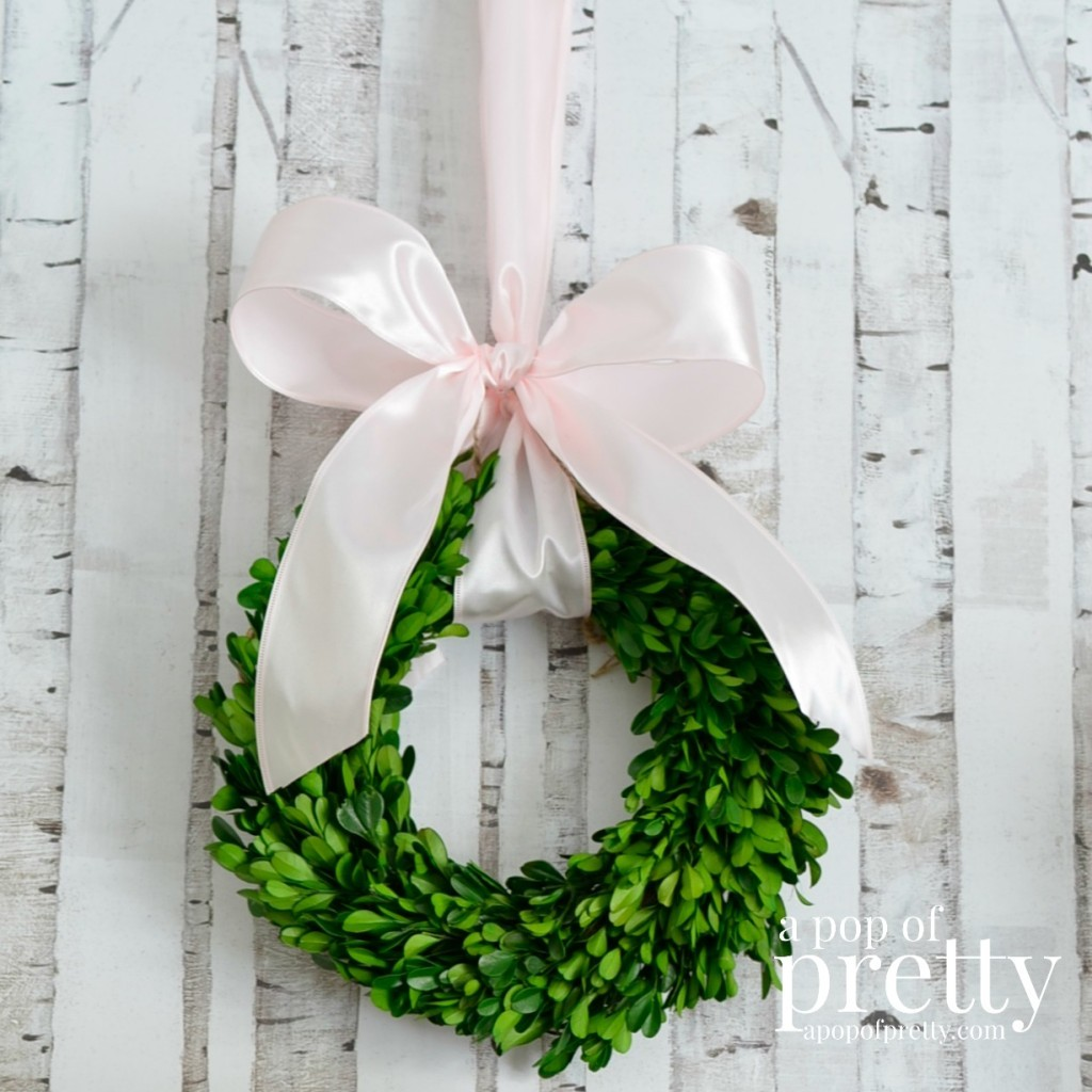Easter decorating wreath