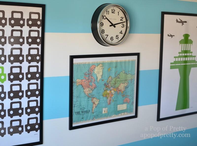 boys bedroom travel posters