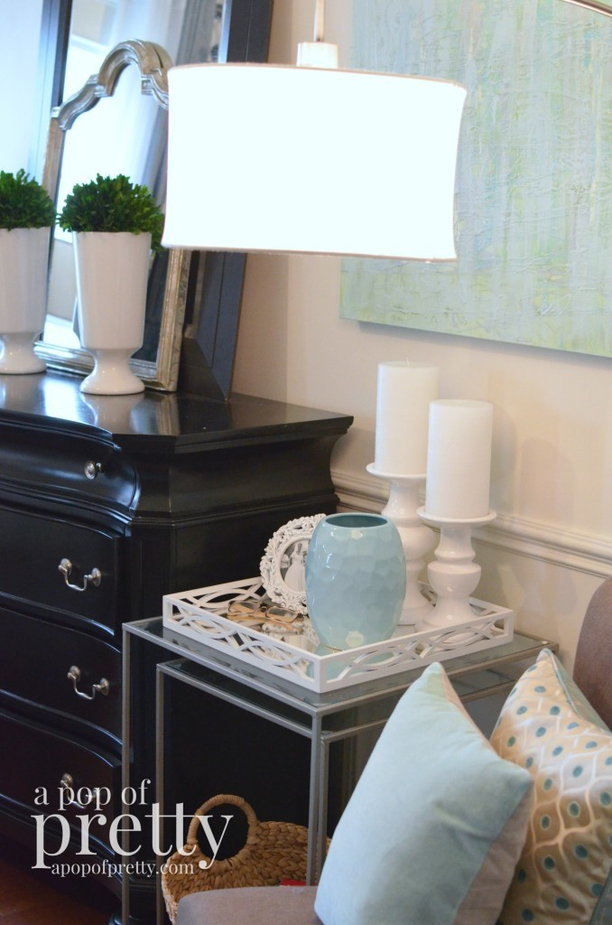 Canadian Bloggers Home Tour - a pop of pretty - master bedroom