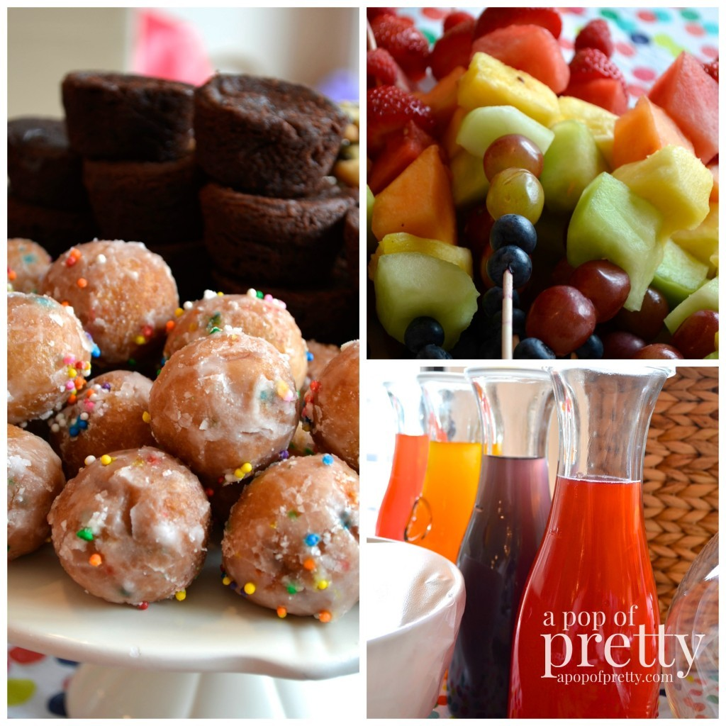 art theme birthday ideas - food