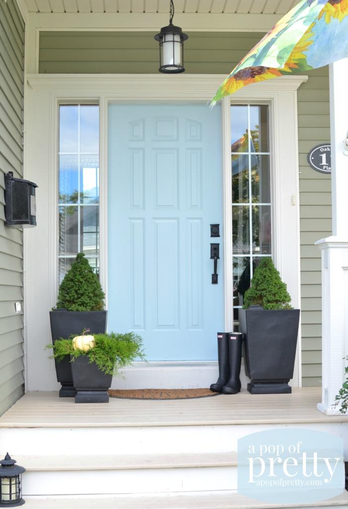 blue door color ideas - Behr Dayflower
