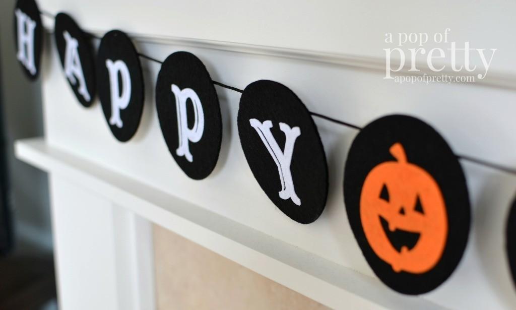 Kid friendly Halloween decorating ideas - banner
