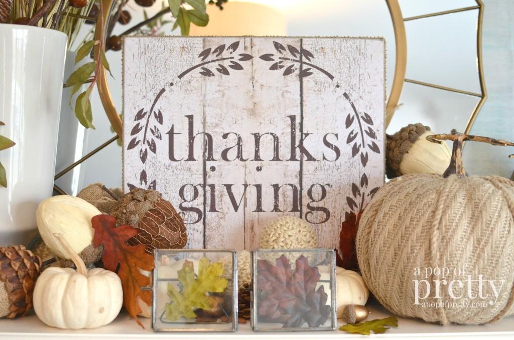 Thanksgiving mantel Decor 2