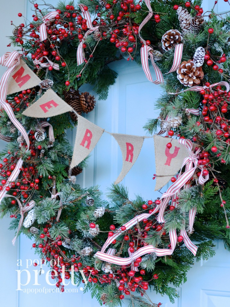 French inspired Christmas wreath